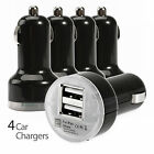 4x Dual 2.1A 2 Port USB Car Charger Adapter For iPhone 5 6 Samsung HTC Universal
