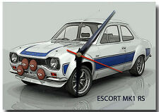FORD MK1 ESCORT RS METAL WALL CLOCK,VINTAGE CARS,CLASSIC CARS,