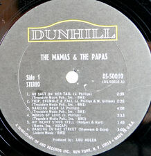 "The Mamas And The Papas Vintage 1966 LP Vinyl  Record 12"" Dunhill DS 50010"