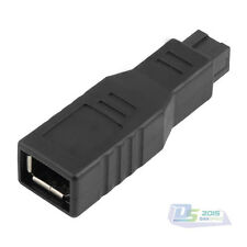 Firewire 1394 6 Pin Female to 9 Pin Male Plug Adapter IEEE 800 400MBPS Connector
