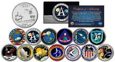 APOLLO SPACE MISSIONS Colorized FL Quarters 13-Coin Complete Set NASA PROGRAM