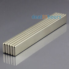 5pcs N50 Strong Block Cuboid Bar Magnets 100mm x 10mm x 3mm Rare Earth Neodymium