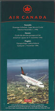 Air Canada system timetable 11/1/96 [7012] Buy 2 Get 1 Free