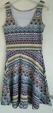 ATMOSPHERE Aztec Style Print Skater Stretch Dress Size 6