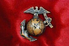WWI US MARINE CORPS VISOR HAT EAGLE, GLOBE & ANCHOR INSIGNIA