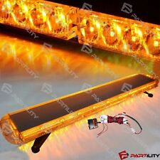 "48"" 88 LED Amber Yellow Emergency Warning Truck Strobe Tow Light Bar Roof"