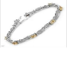 Sterling Silver Genuine Citrine Tennis Bracelet New