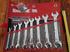 NEW SIDCHROME 8 PIECE METRIC OPEN END SPANNER SET RRP $140       EXPRESS POSTAGE