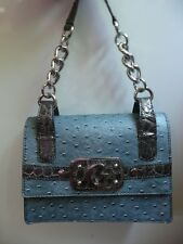 ~@~ GUESS Blue Purse Handbag With Gray Silver Accents – NEW Without Tags! ~@~