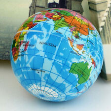 World Map Earth Globe Soft Squeeze Foam Ball Hand Wrist Exercise Stress Relief .