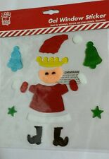 Christmas Gel Window Sticker Mrs Claus Santa Bella Stars Xmas