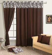 Solid Panel Bedroom Premium Cotton Door Drape Window Modern Curtains 6715