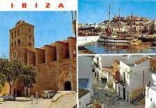 Spain Ibiza (Baleares) Details of the Town Harbour Boats Port Auto Cars