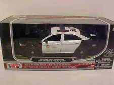 2013 Ford Taurus LAPD Police Interceptor Die-cast Car 1:24 Black White 8 inch