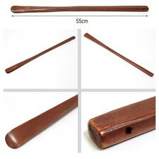 "21"" Lacquered Bamboo Wood Wooden Men Women Shoehorn Casual Running Shoes Lift"