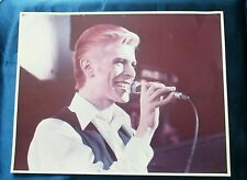 "David Bowie photo picture poster in concert White Duke 11"" x14"" original vintage"