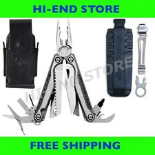 Leatherman CHARGE TTi Multi-Tool+Leather Sheath+ Bit Kit+ Removable Pocket Clip