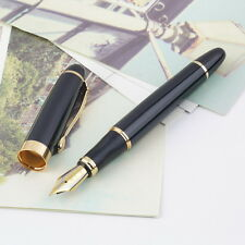 Jinhao X450 Fountain Pen Black Mordern Medium Nib Gold Trim New Perfect AO