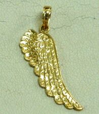 Brand New Solid 14K Yellow Gold Angel's Wing Pendant