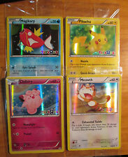 Pokemon TOYS R US Promo MAGIKARP+PIKACHU+CLEFAIRY+MEOWTH Card Generations XY Set