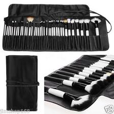 36PCS Kabuki Cosmetic Eyebrow Shadow Makeup Brushes Set Kit + Pouch Bag New