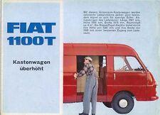 Fiat 1100 T High Top Van Original German Sales Brochure 1960s  Pub. No. 2381
