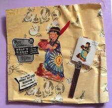 VINTAGE MARY ROBBINS GIFT WRAP IN PACKAGE BONUS DECORATION TAG & RIBBON