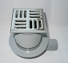 SQUARE POINT FLOOR WETROOM  SHOWER DRAIN STAINLESS STEEL 105MMx105MM balcony