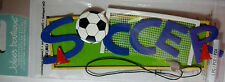 NEW 1 pc SOCCER Football Pitch Goal Net Cones Futbol   3D Title Stickers JOLEE'S