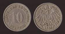 GERMANIA GERMANY 10 PFENNIG 1900 F
