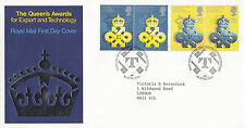 10 APRIL 1990 QUEENS AWARDS ROYAL MAIL FIRST DAY COVER LONDON LETTER SHS (x)