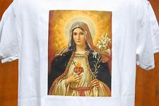 graphic retro art vintage Cotton Mens T Shirt , S,M,L,XL ,Blessed Virgin Mary