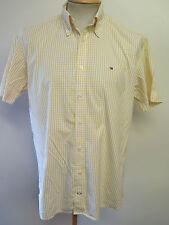 "Genuine Tommy Hilfiger Check Shirt - M 38-40"" Euro 48-50 -Yellow"