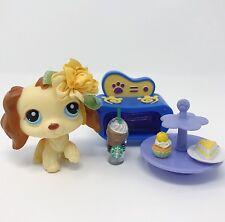 LPS Littlest Pet Shop Dog Lot Purple Cocker Spaniel #298 Baking Accessories