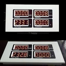 100A AC Digital LED Power Meter Monitor Voltage KWh Time Watt Voltmeter Ammeter