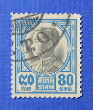 1928 THAILAND 80 SATANG SCOTT# 214 MICHEL # 206 USED                     CS22101