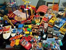 PLAYMOBIL LOT Doll House Furniture Circus Trucks Cars Boats Tables People L@@K!!