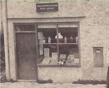 1902 CABINET PHOTO CHILTHORNE DOMER ENGLAND POST OFFICE & STORE CAT IN WINDOW