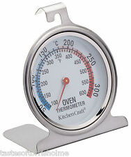 Kitchen Craft Stainless Steel Traditional Degrees In C & F Dial Oven Thermometer