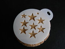 Laser cut small stars design cake, cookie,craft & face painting stencil