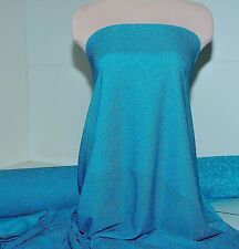 METALLIC STRETCH SEMI SHEER AMERICAN KNIT TURQUOISE DOLL CLOTHING, COSTUME