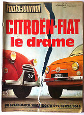 L'AUTO-JOURNAL du 12/1972; Match Simca 1100S - R 12 TS - GS 1220 - 304 S