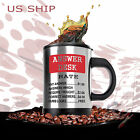 HOT & Cold  Double Insulated Self Stirring Funny Joke Mug Electric Coffee Cup AD