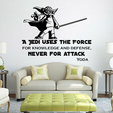 22.6×17.8 Inch Master Yoda Star Wars Wall Sticker Room Mural Decal Decor Art