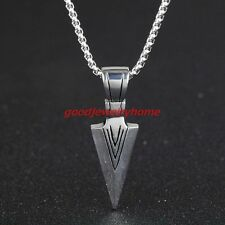 Personality Silver Color Spear Biker Stainless steel Mens Pendant Necklace Gift