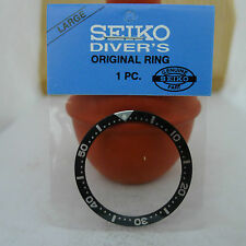 SEIKO BLACK BEZEL INSERT FOR MEN'S SIZE DIVER'S 7S26-0020 6309-7040 7002-7000