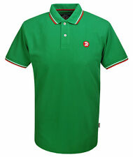 TROJAN RECORDS EMERALD GREEN TIPPED POLO T-SHIRT L BNWT MOD LARGE IRELAND