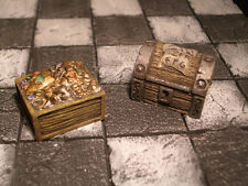 Pair of Treasure Chests Thomarillion Unpainted Resin Dwarven Forge D&D