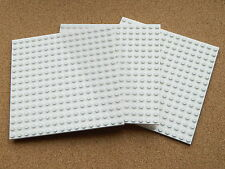 """LEGO Large ICE SNOW WINTER Plate 16x16 5""""x5"""" (pack of 3) WHITE flat baseplate"""