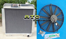 3 ROW for 1955-1959 CHEVY PICKUP TRUCK Aluminum Radiator 1956 1957 1958 +16''FAN